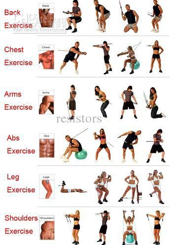 graphic regarding Printable Resistance Bands Exercises called RESISTANCE BANDS Preset For Yoga Stomach muscles Pilates Health and fitness Fitness