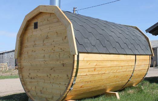 Sauna Saunafass 45mm L300cm D220cm