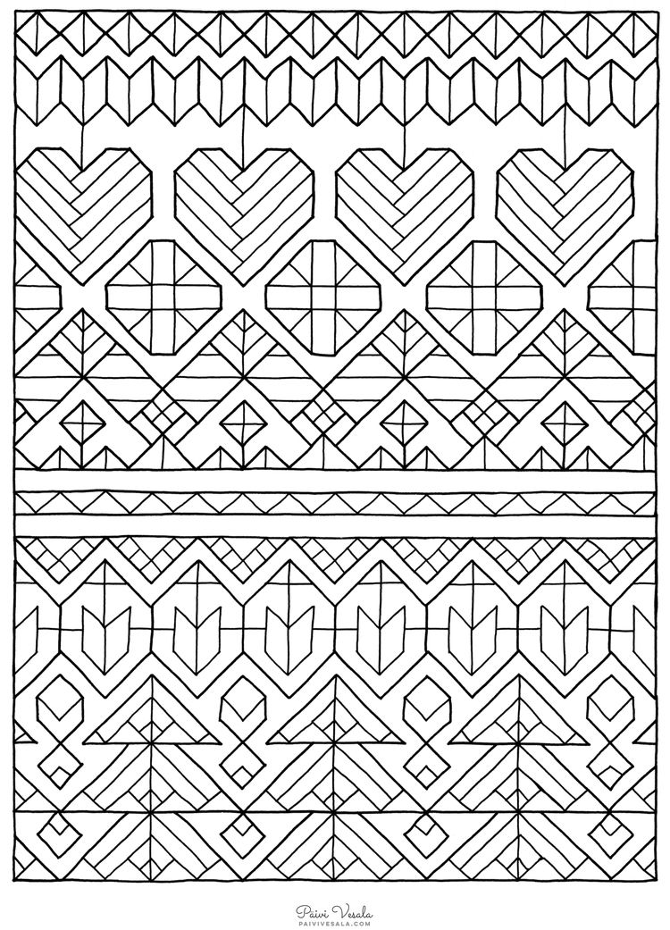 C Paivi Vesala 1449504722908 750 1041 Mandala Coloring Pages