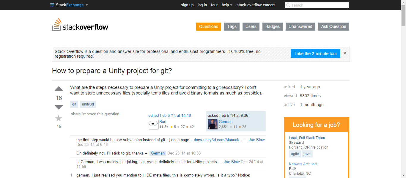 unity3d - How to prepare a Unity project for git? - Stack