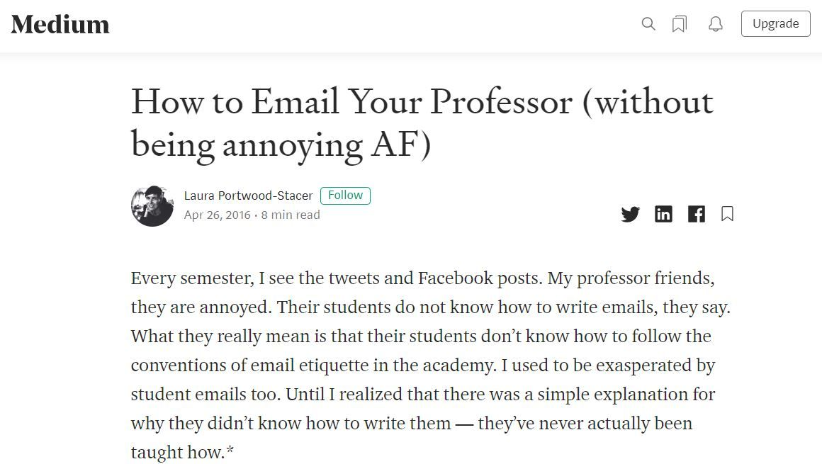 How To Email Your Professor Without Being Annoying Af Professor Annoyed Student