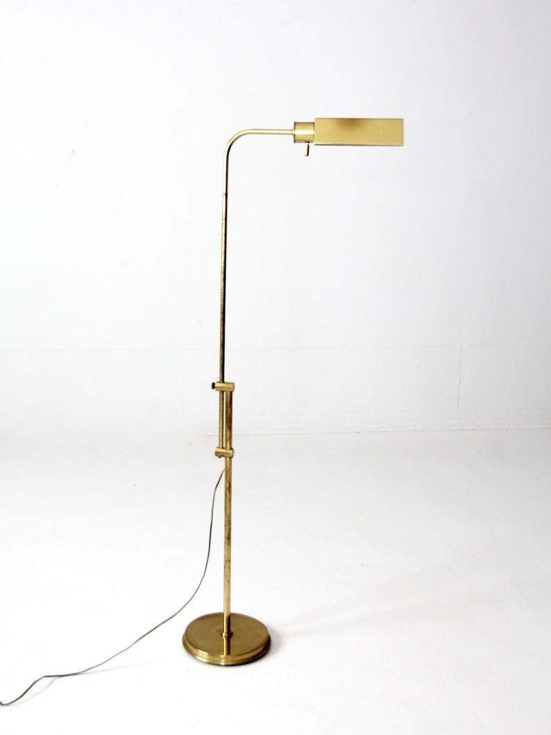 Mid Century Brass Floor Lamp Adjustable Reading Light Image 0 1000 Rustic Floor Lamps Unique Floor Lamps Shabby Chic Floor Lamp Reading floor lamps adjustable