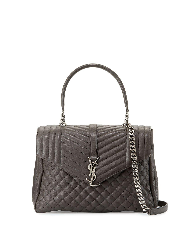Saint Laurent Monogramme Large Shoulder Bag ($2,790) ❤ liked on ...