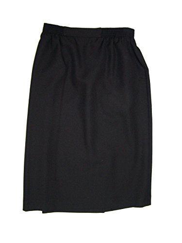 Alfred Dunner Classics Elastic Waist Straight Skirt Denim