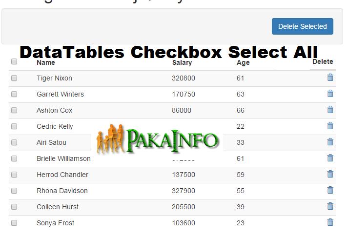 Datatables Checkbox Check All Example Programming Tutorial Online Education Web Programming