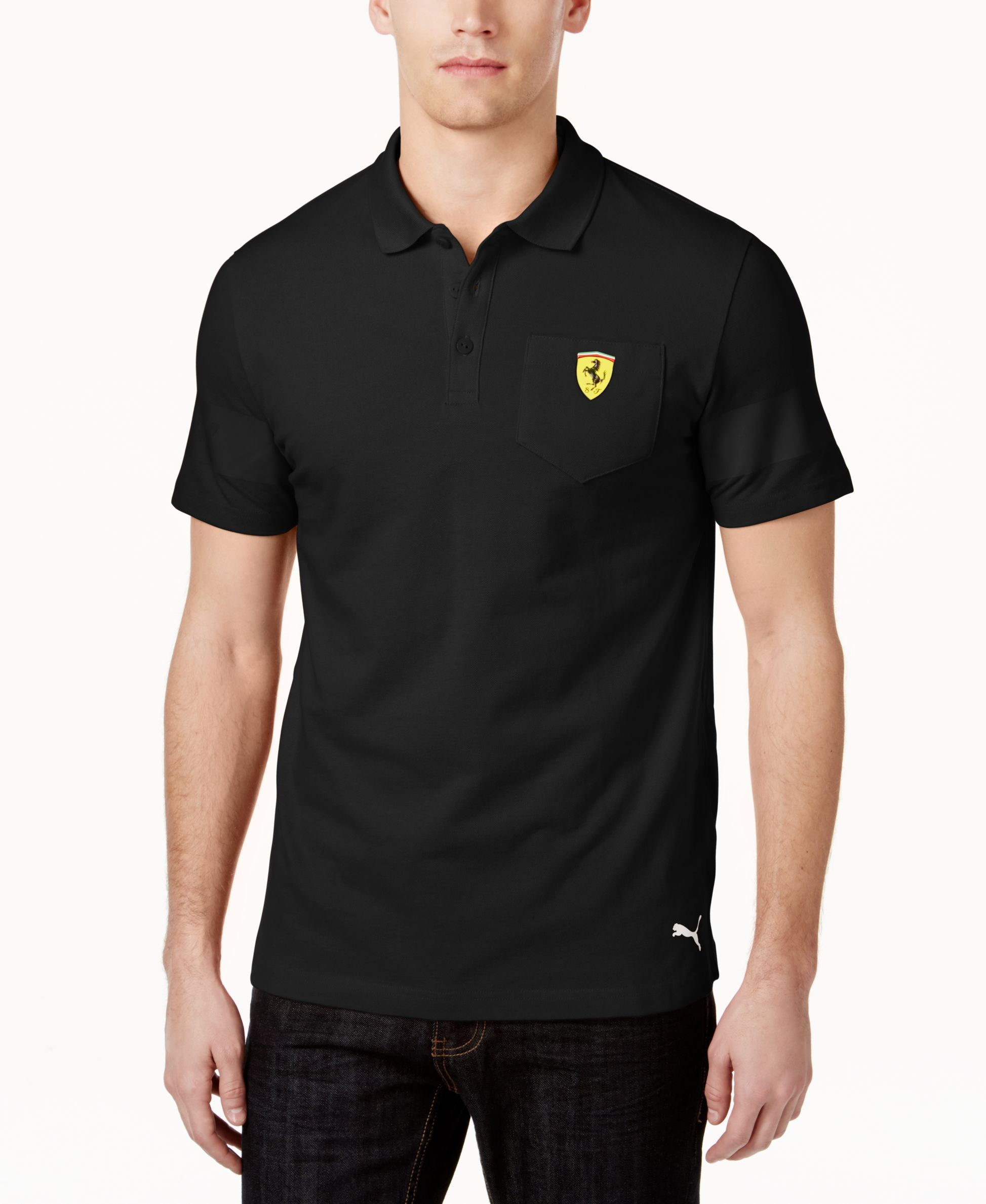 b608a257c24 Puma Men's Ferrari Polo Shirt | Ferrari Fashion | Puma mens, Polo ...