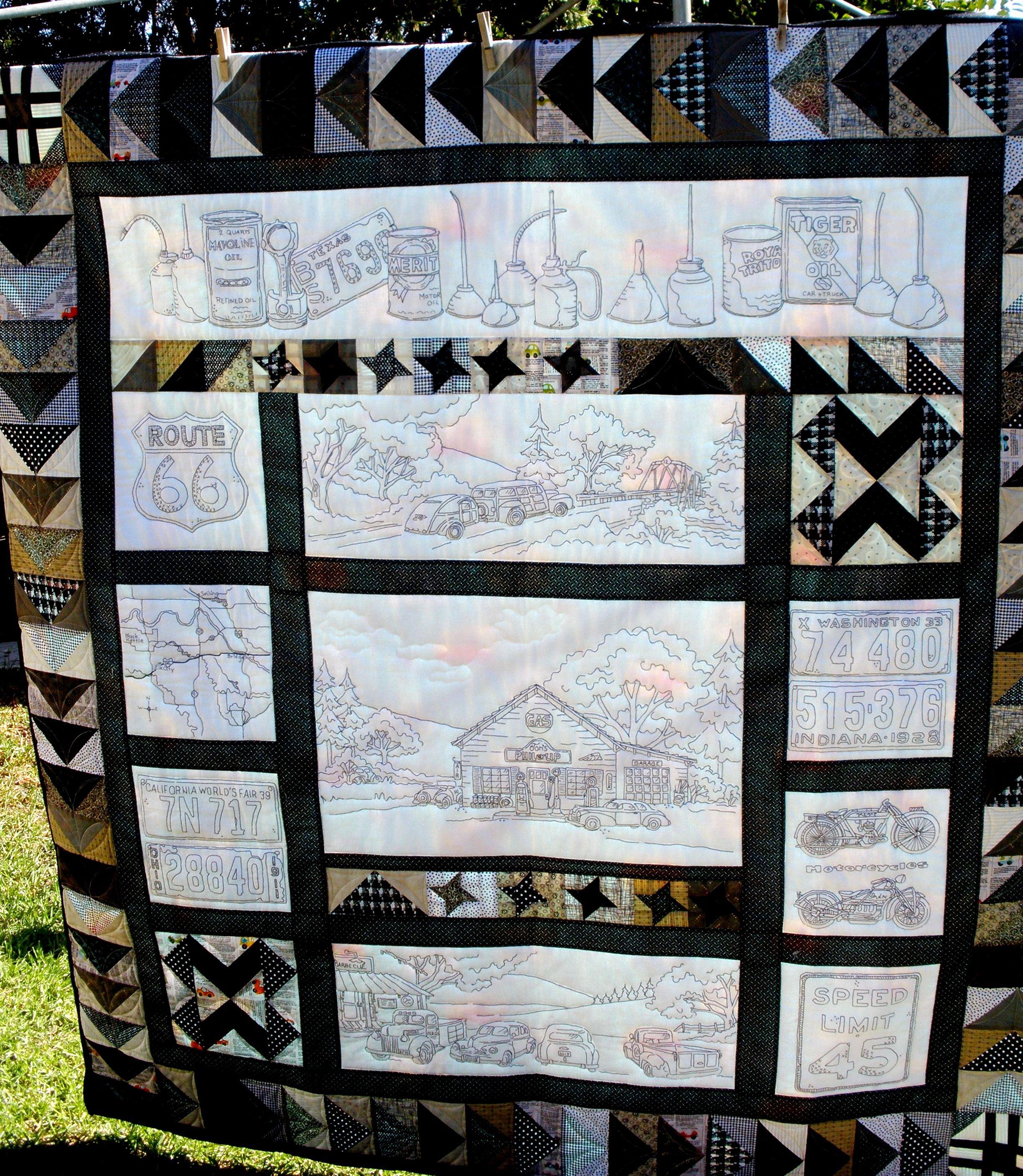 Joanne Ferguson Vintage Tin Jpg 2 448 2 815 Pixels Witch Quilt Christmas Quilts Car Quilt
