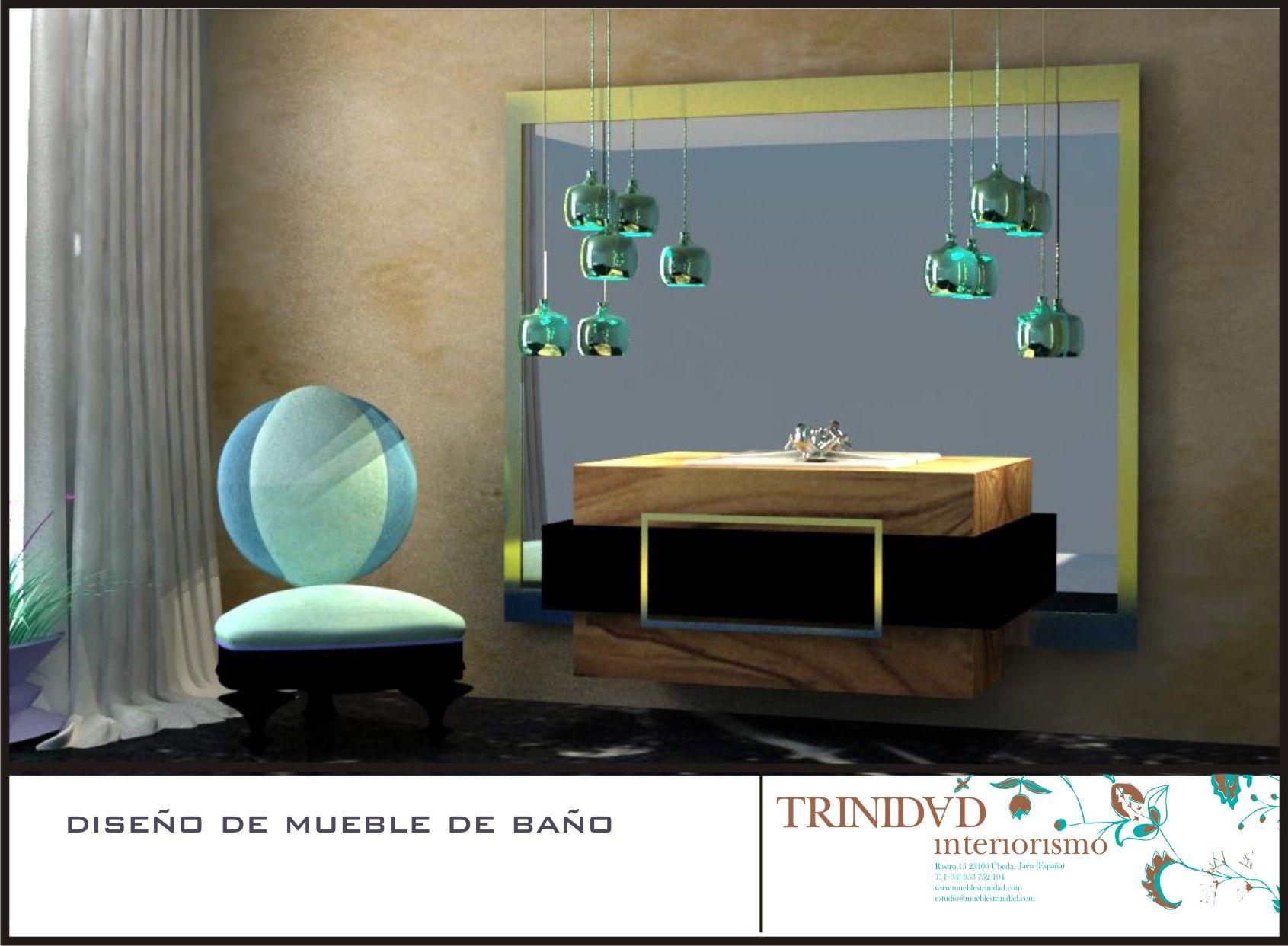 Muebles baño 3D Interiorismo Trinidad 3