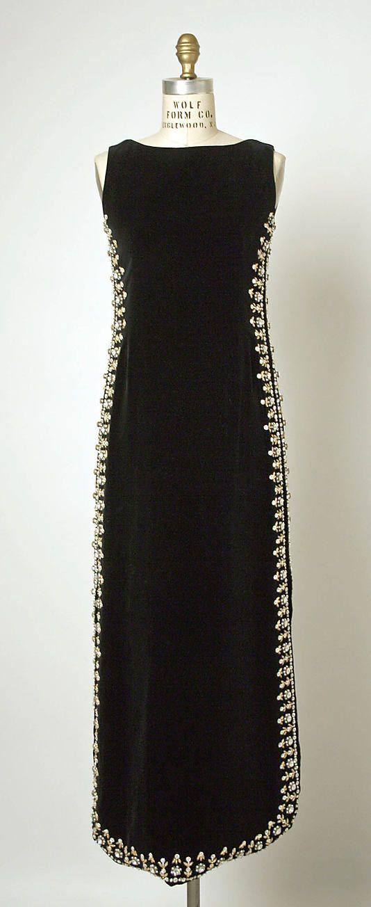 Evening dress, House of Balenciaga, 1967