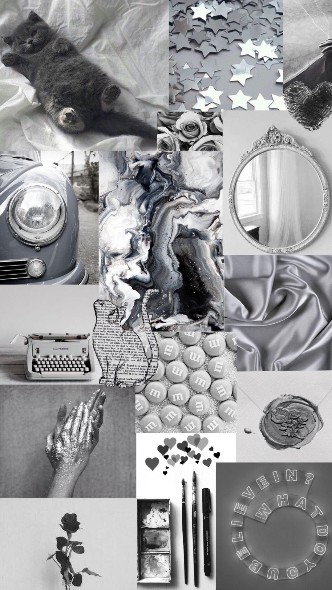 Vintage Grey Aesthetic Wallpaper