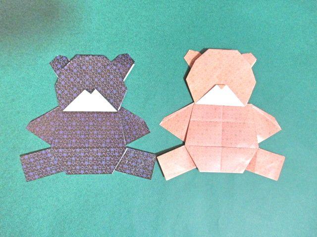 クマ 折り紙 折り紙の「クマ」の簡単な折り方