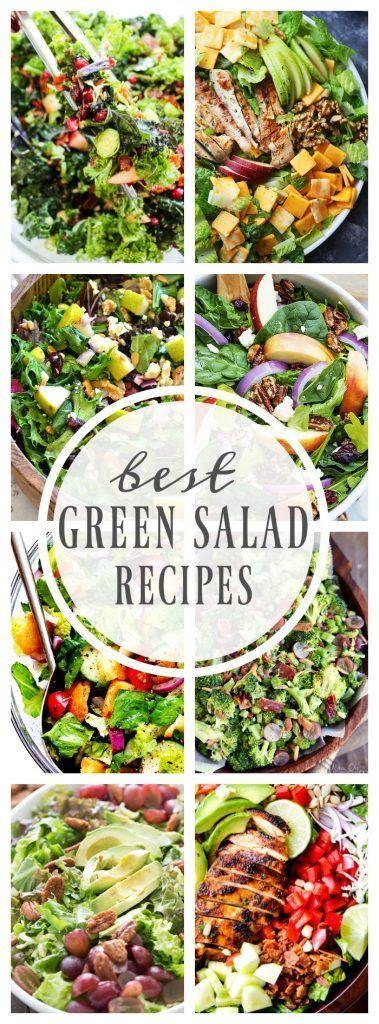Best Green Salad Recipes Green Salad Recipes Salad Recipes Lettuce Salad Recipes