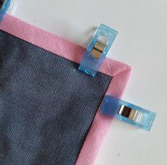 Kurzanleitung Schrägband über Eck annähen #fabrictape