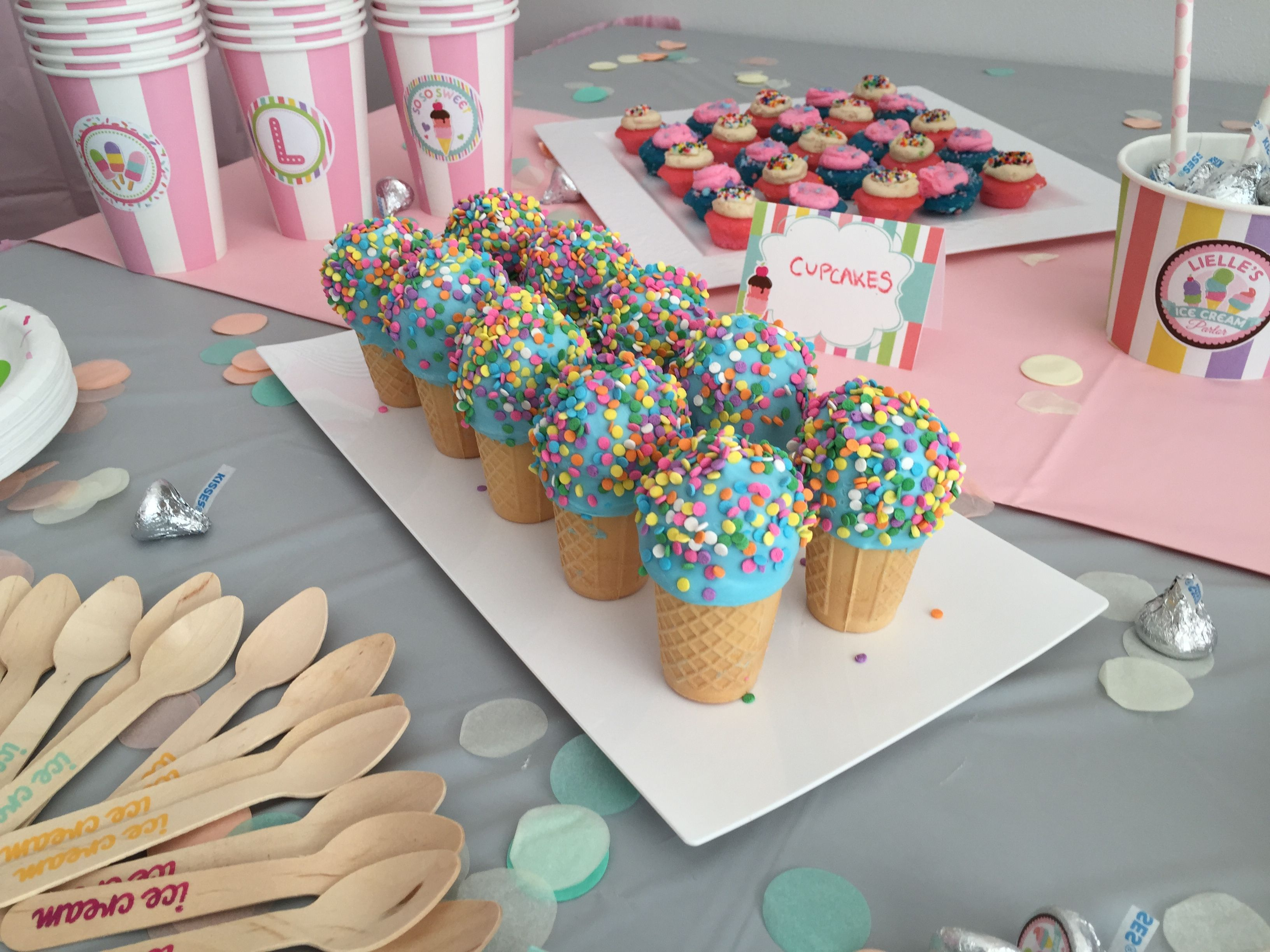 Ice Cream Cake Pop Cones