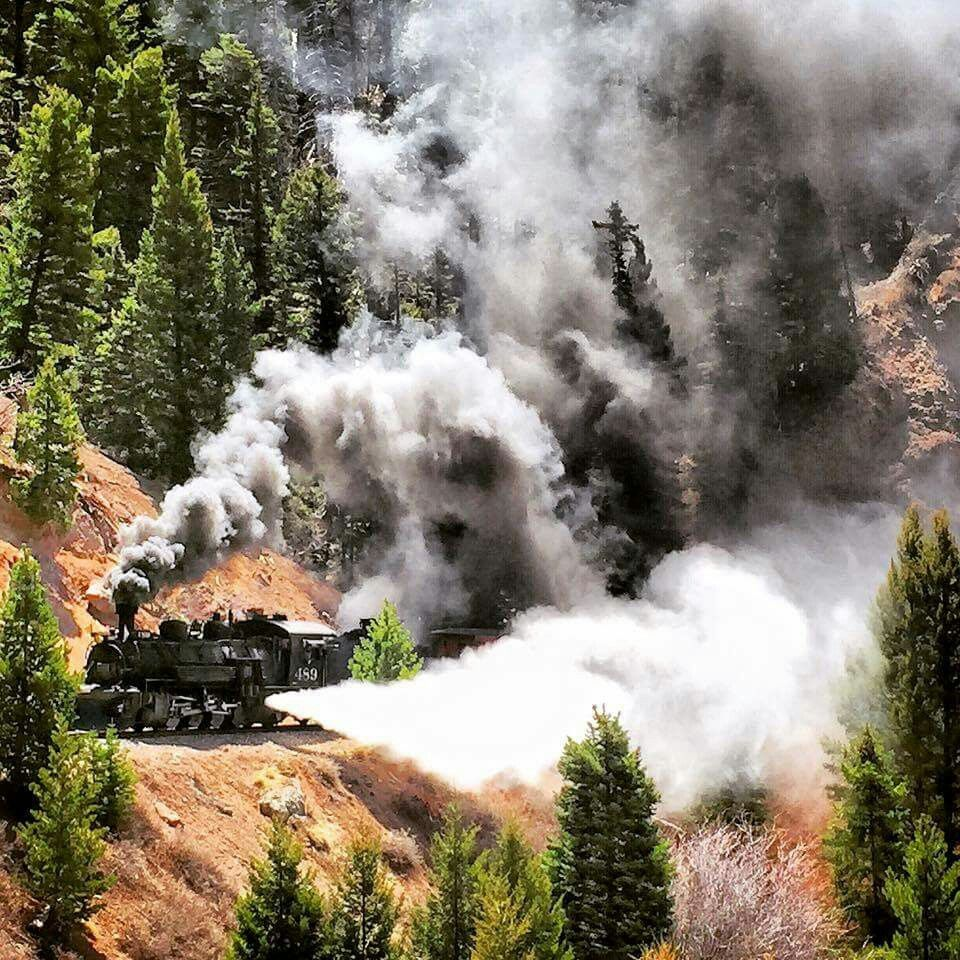Drgw 489 nice steam now the cumbers toltec scenic rr