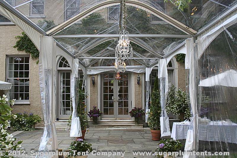 This Clear Pavilion Marquee Connects The Dining Tent To