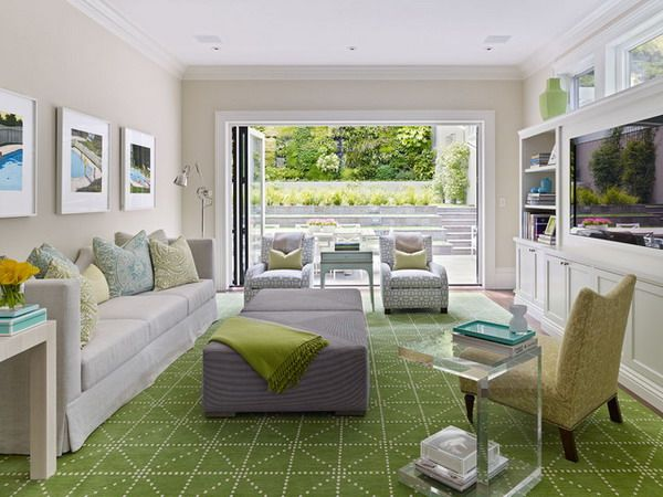 Living Room Ideas With Green Carpet Cute Neutral Walls And White Furniture Home Decor
