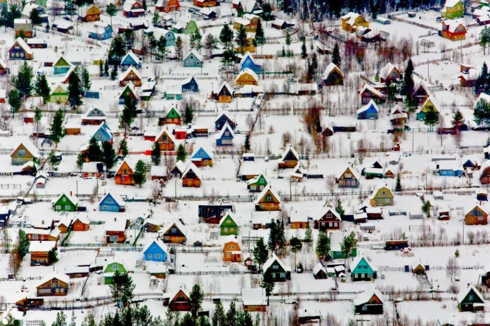 Aldeia de férias perto de Arkhangelsk, Rússia