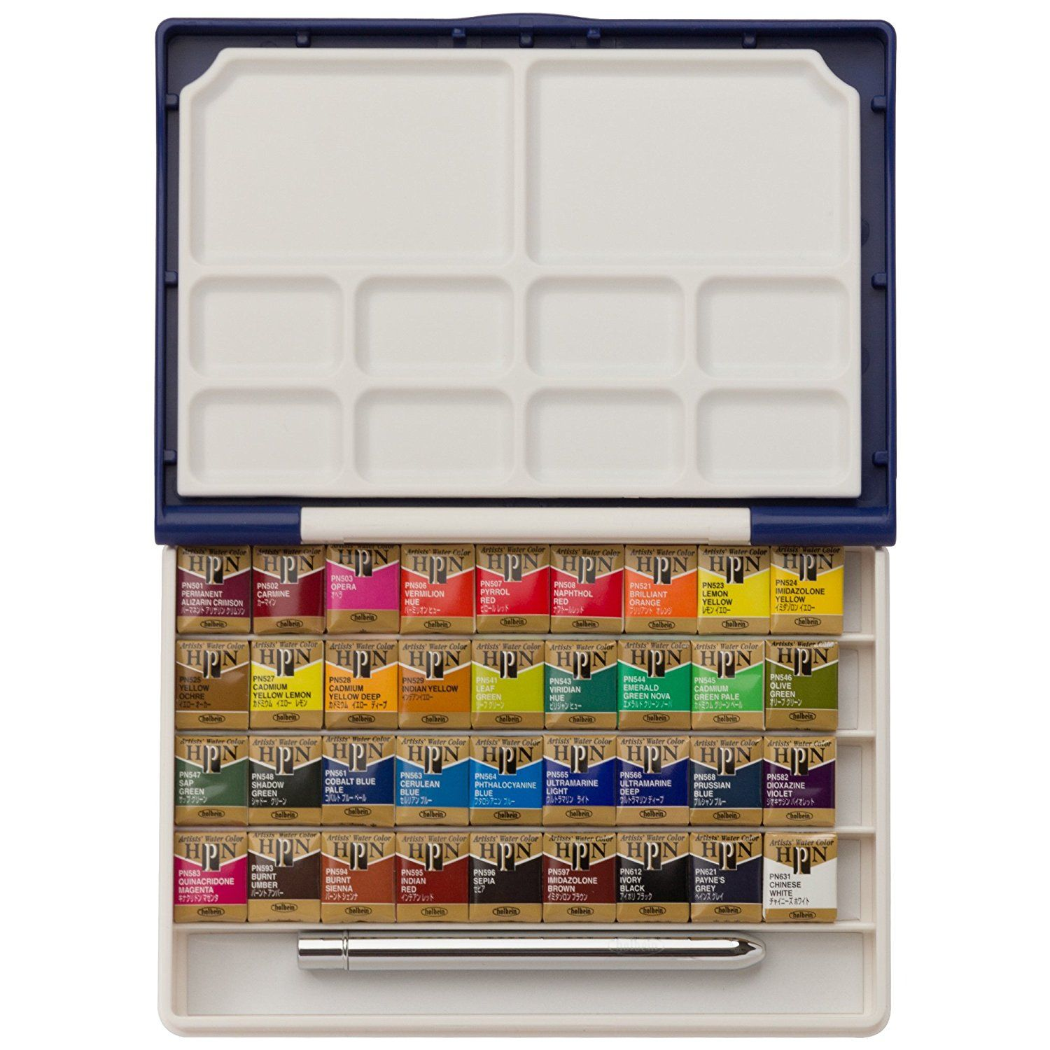 Amazon Com Holbein Watercolor Set Palm Plastic Case 36 Half