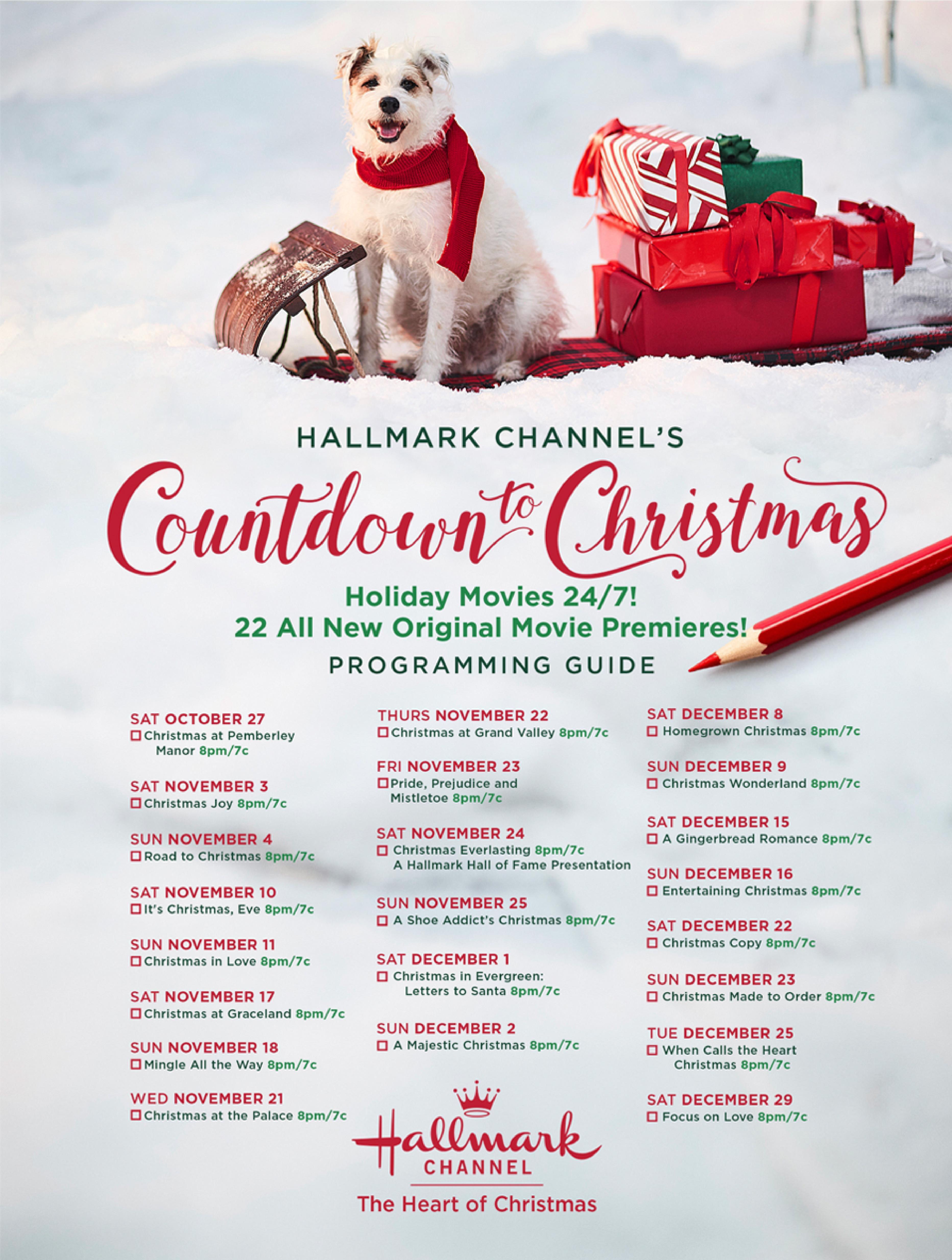 hallmark channel releases 2018 christmas movie schedule - set your