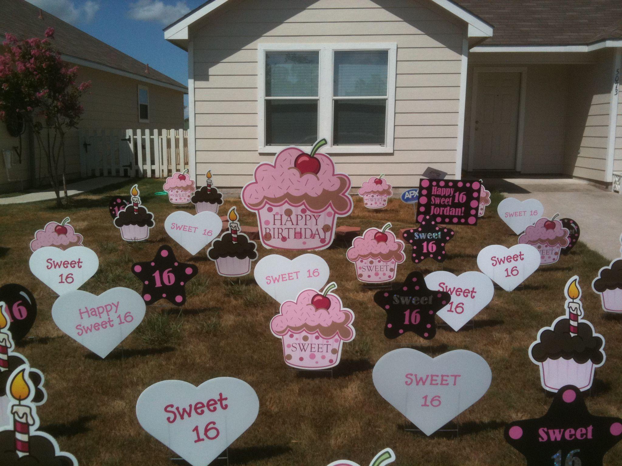 16 Birthday Lawn Signs