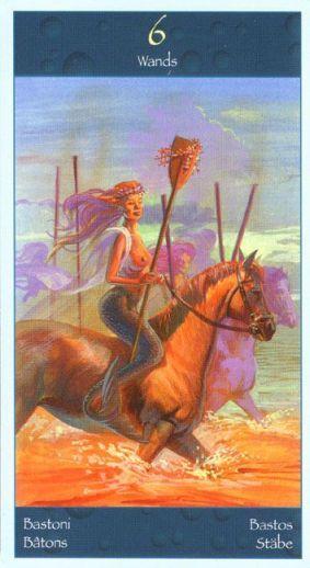Tarot of Mermaids ► Six of Wands