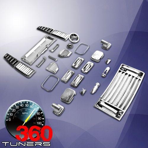 Hummer H2 Full Chrome Kit 36pcs Carros Customizados Carros