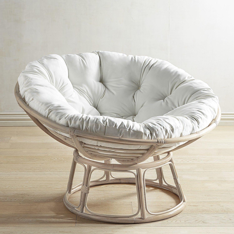 Papasan Whitewash Chair Frame Stone Wash  Papasans
