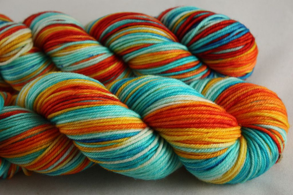 Sunrise Fiber Co. Vintage DK now at Happy Knits in Portland OR