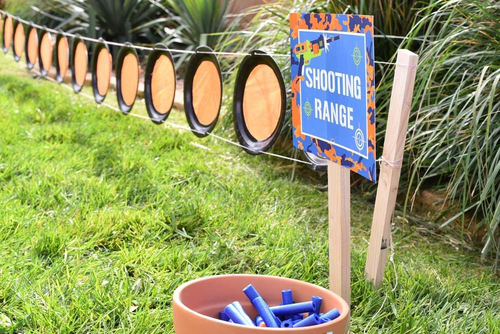 Nerf Birthday Party Ideas Shooting range Party shirts and Ranges