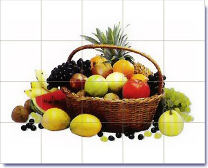 Fruits Desigsn On Decorative Ceramic Tiles