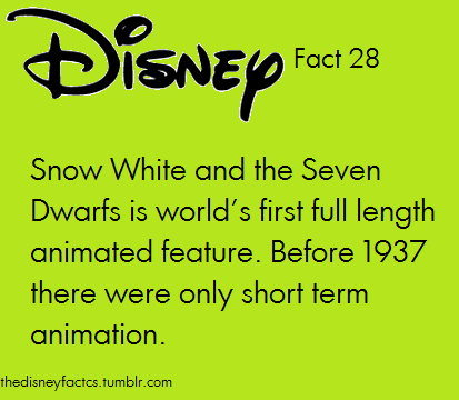 FALSE! Snow White was the first AMERICAN full length animated feature film. The first world wide one (known and not lost) was The Adventure of Prince Achmed by Lotte Reiniger. How do I know this? Research. And an Animation History course at SCAD where I study animation.