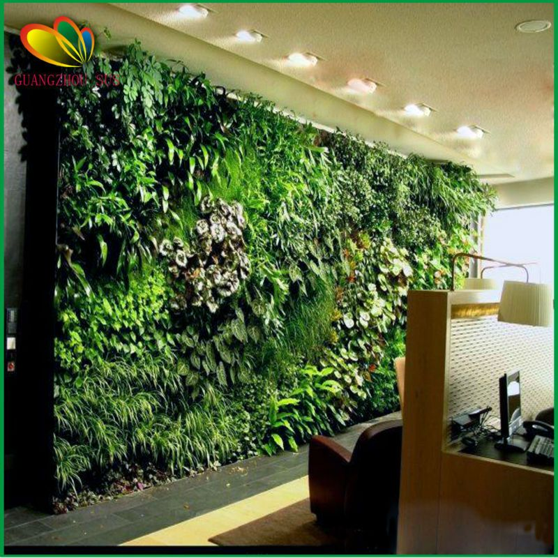 2015 new products sistema de muro verde artificial para la for Plantas para muros verticales