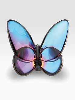 THE CRANBERRY BLUE BUTTERFLY IN CRYSTAL