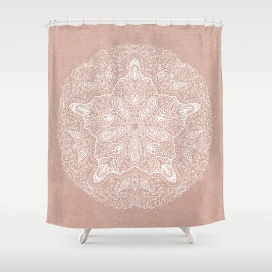 SHOWER CURTAIN Sand Dollar Inspired Design Blue, Blush, Natural Brown Or  Gray