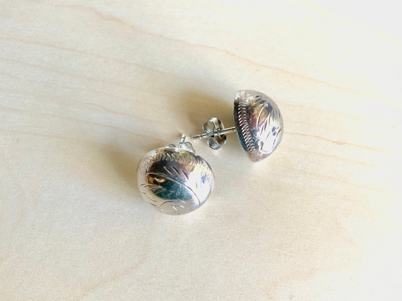 Antique Sterling Silver Earrings 18mm