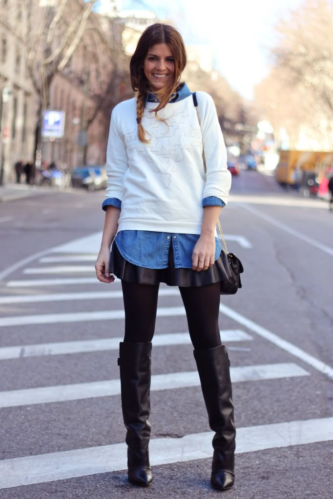 Camisa vaquera mujer combinar - Buscar con Google | Leather/ latex/leggings | Pinterest | Outfit ...