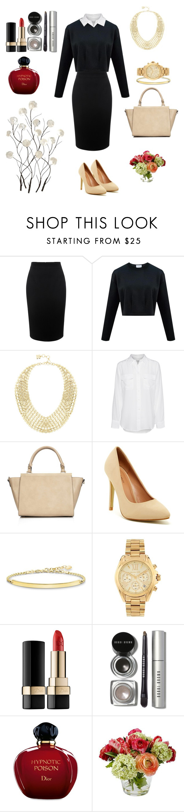 """Untitled #55"" by ivasiukyana ❤ liked on Polyvore featuring Alexander McQueen, BCBGMAXAZRIA, Equipment, Wallis, Top Guy, Thomas Sabo, Michael Kors, Dolce&Gabbana, Bobbi Brown Cosmetics and Christian Dior"