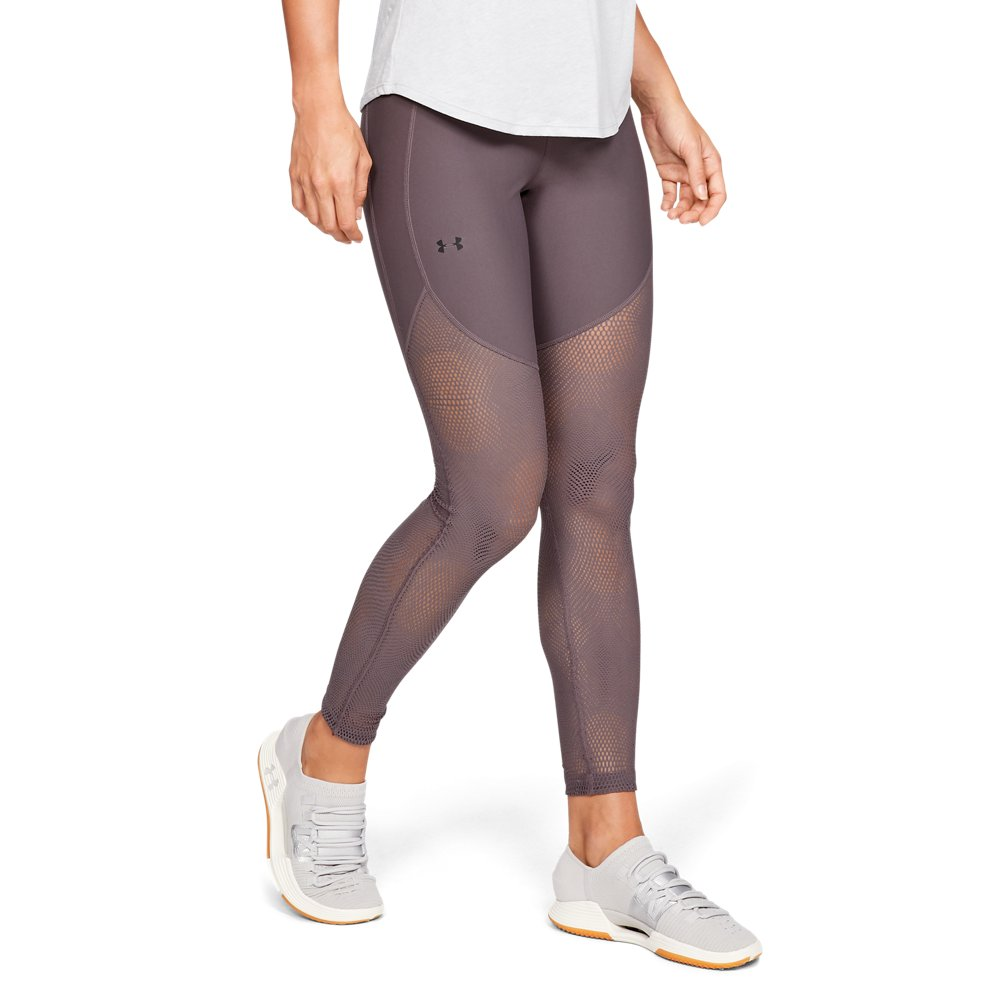 Under Armour Women/'s Favorite Printed Capri Gym sports Leggings Grey//Navy medium