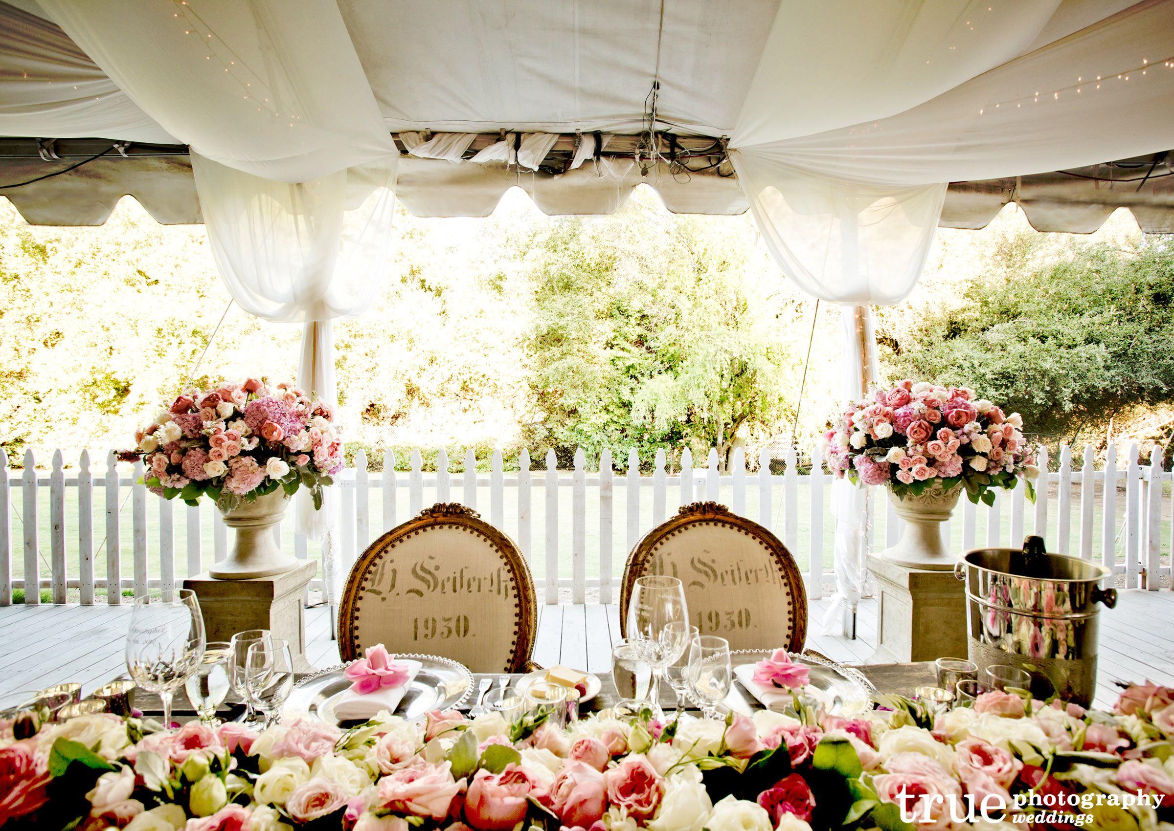 Outdoor Wedding Table Settings