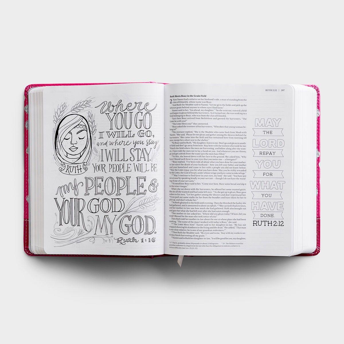 Niv Beautiful Word Coloring Bible For Girls Dayspring