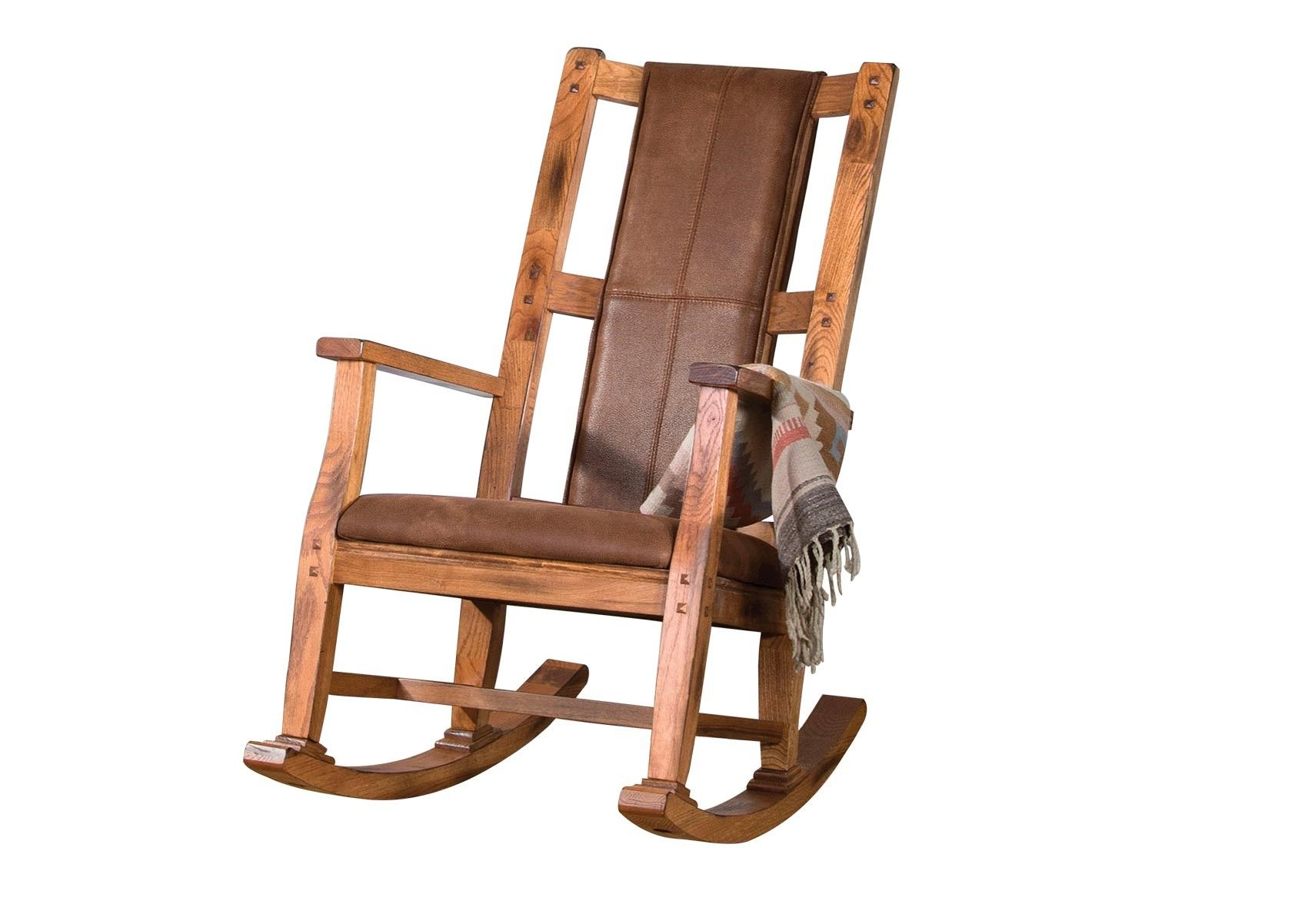 Rocking Chair Chair Wooden Chair Rosali Solid White Antique Wood Cottage Cottage