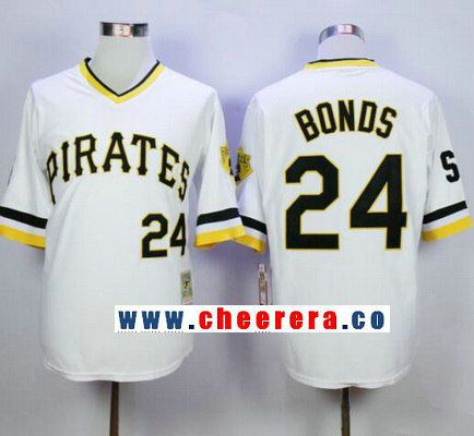 b2e4a99f7 ... coupon code for mens pittsburgh pirates 24 barry bonds white pullover  1987 throwback stitched mlb mitchell