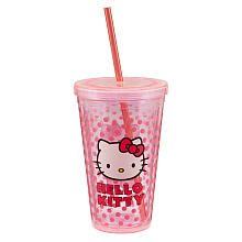 "Hello Kitty® 18 oz. Acrylic Travel Cup - Vandor - Toys ""R"" Us"