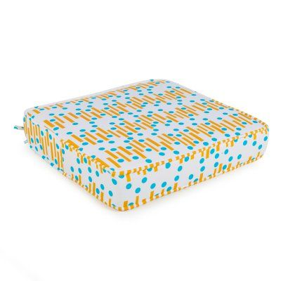 Coral Coast Mid-Century Modern Boxed Edge 22.5 in. Outdoor Seat Cushion - 9747PK1-4278C
