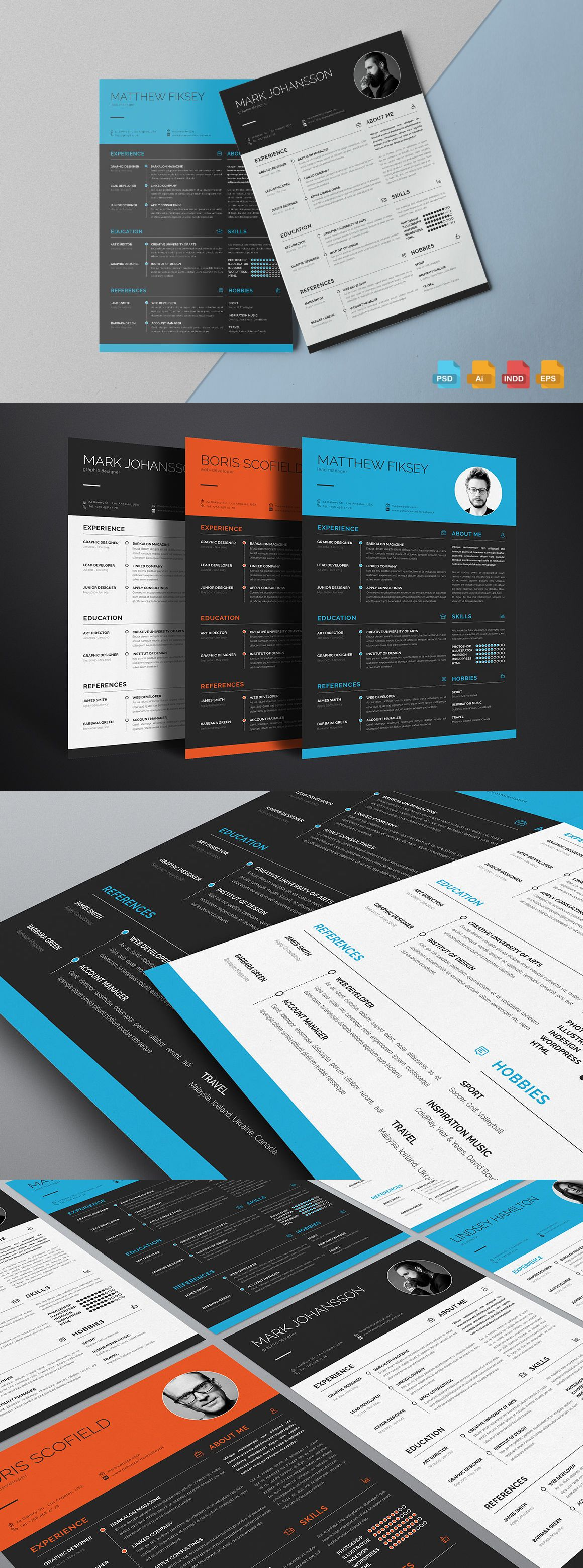 Clean Resume Template by RoyalBlackStudio on Envato