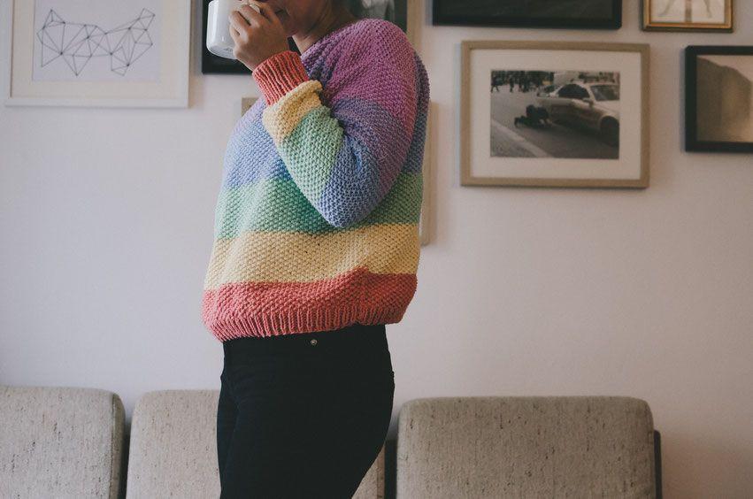 Rainbow Sweater Love felicity DIY Blog | Knitting Dreams