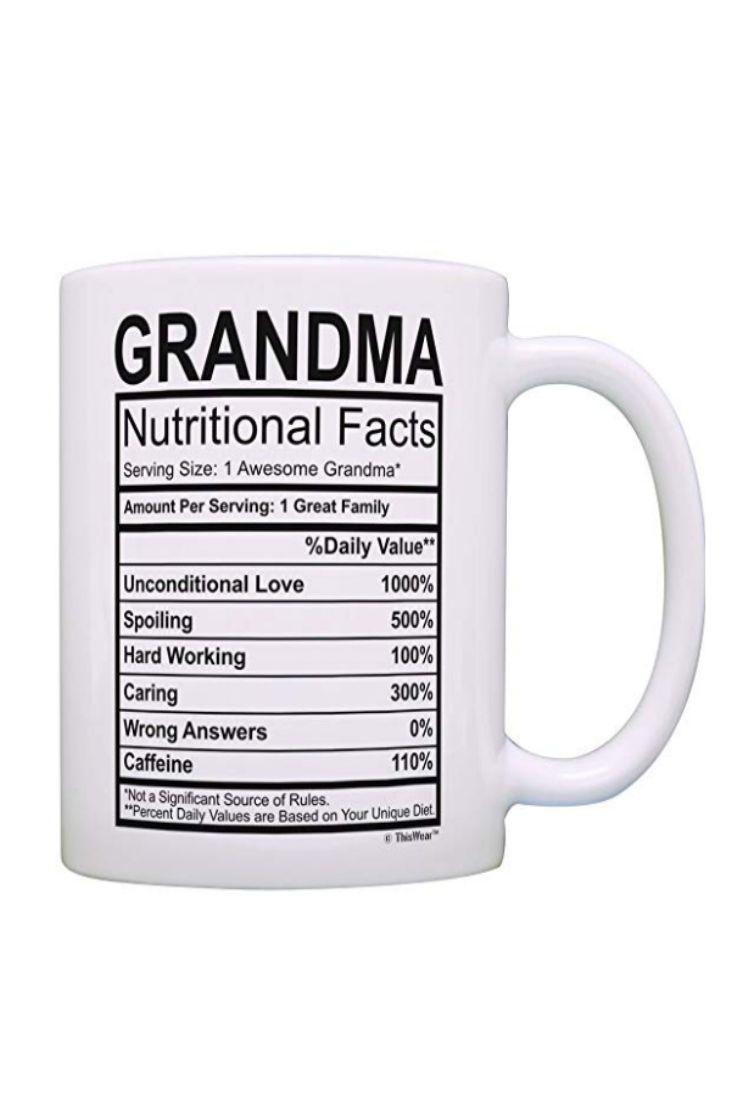 Grandma nutritional facts coffee mug engineering gifts