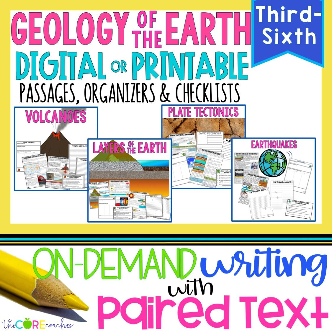 Science Paired Passages Geology Of Earth Distance Learning Paired Passages Paired Texts Passage Writing [ 1125 x 1125 Pixel ]