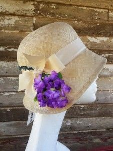 Frank Olive cloche hat, straw summer weight - collectable, wearable
